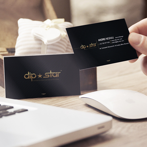 Print ready business card design for Dip Star