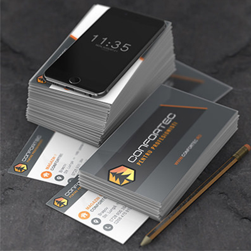 Premium print ready vector business card for Confortec