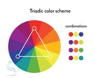 triadic color scheme for logo design
