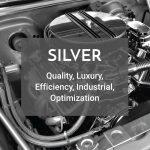 silver color logo