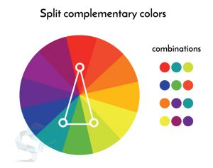 split complementary colors for logo design